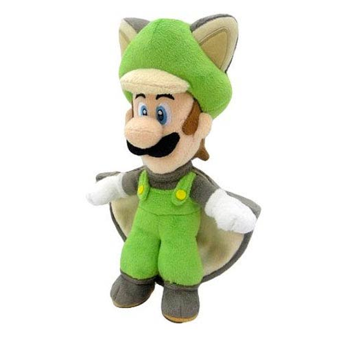 Super Mario Bros. Flying Squirrel Luigi 15-Inch Plush