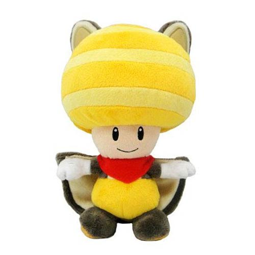 Super Mario Bros. Yellow Flying Squirrel Toad 8-Inch Plush