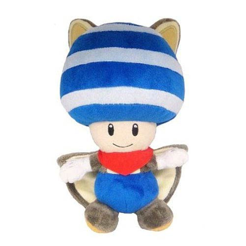 Super Mario Bros. Blue Flying Squirrel Toad 8-Inch Plush