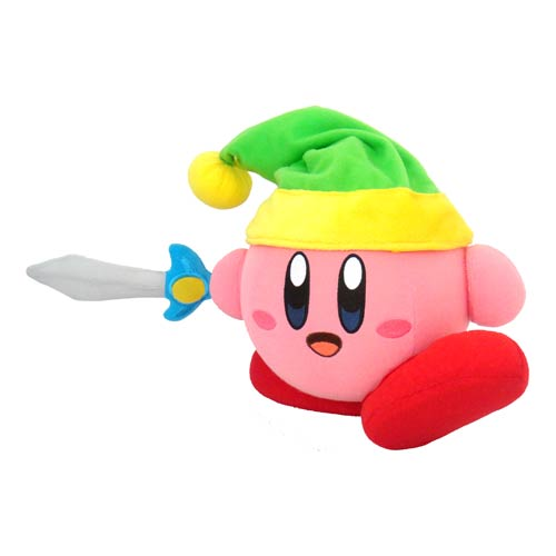 Kirby with Sword Action Plush
