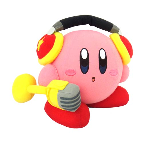 Kirby with Microphone Action Plush
