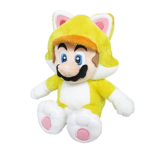 Super Mario Bros. Cat Mario 10-Inch Plush