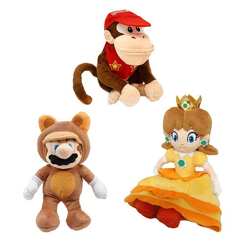 Super Mario Bros. 9-Inch Plush A Set