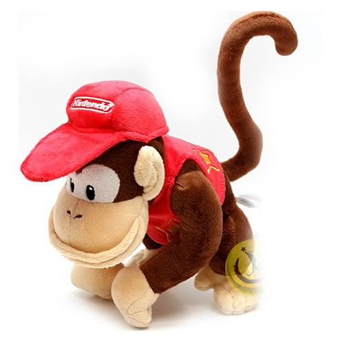 Super Mario Bros. Small Diddy Kong Plush Doll