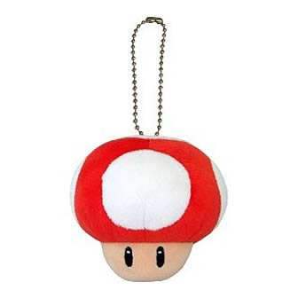 Super Mario Bros. Red Mushroom Mascot Plush