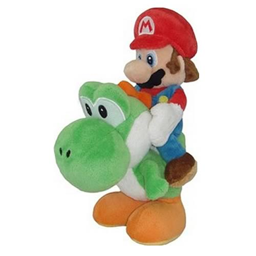 Super Mario Bros. Mario Riding on Yoshi 8-Inch Plush