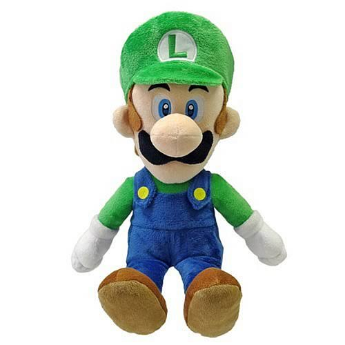 Super Mario 16-Inch Large Luigi Plush