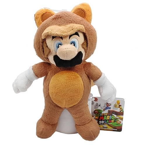 Super Mario Tanooki Mario 8-Inch Plush