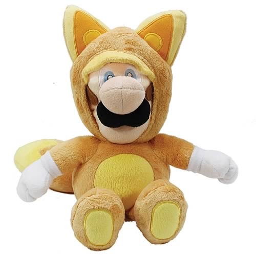 Super Mario Plush Series Kitsune Luigi 12-Inch Plush