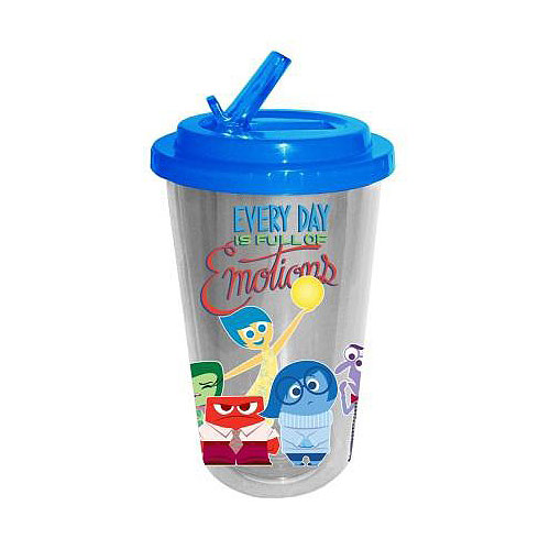Inside Out Emotions 16 oz. Flip-Straw Travel Cup
