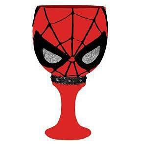 Spider-Man Glass Goblet Drinking Cup