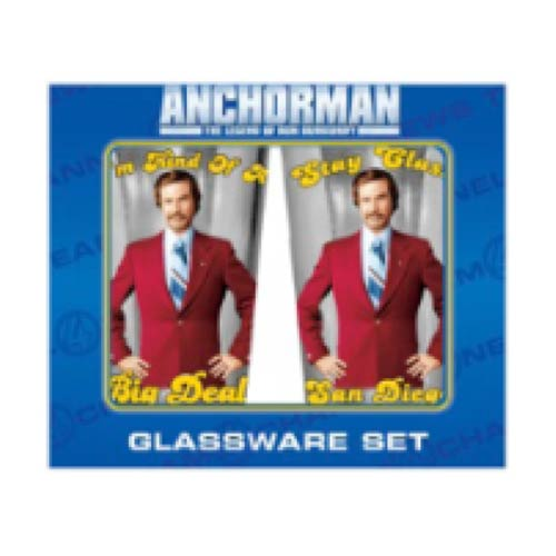 Anchorman Legend of Ron Burgundy 16 oz. Pint Glass 2-Pack