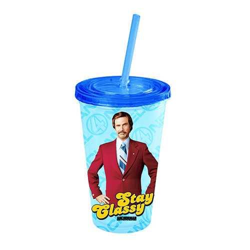 Anchorman Ron Burgundy Stay Classy Plastic Travel Cup