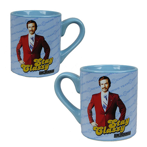 Anchorman Ron Burgundy Stay Classy 14 oz. Ceramic Mug