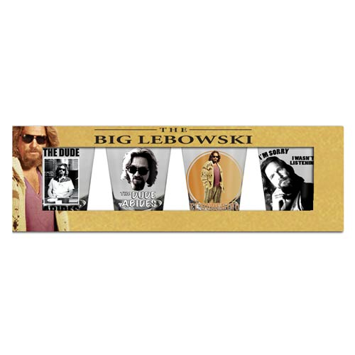 The Big Lebowski The Dude Shot Glass 4-Pack