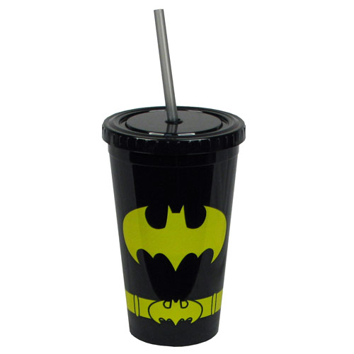 Batman Uniform 16 oz. Plastic Travel Cup