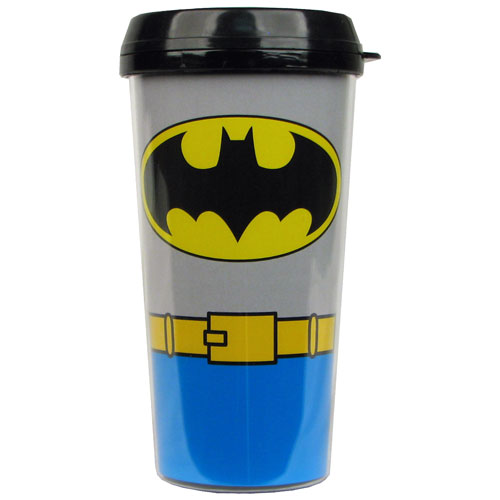 Batman Uniform 16 oz. Plastic Travel Mug