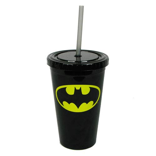 Batman Shield Logo 16 oz. Plastic Travel Cup