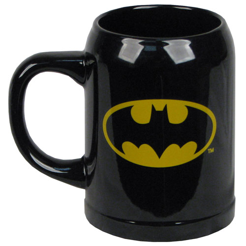 Batman Logo Black Ceramic Stein