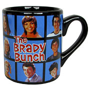 Brady Bunch Cast Portrait Black Mug