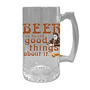 Cheers Norm Peterson Glass Stein