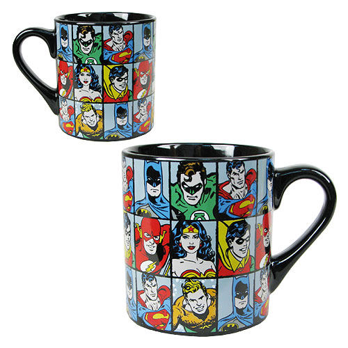 DC Comics Characters Grid 14 oz. Ceramic Mug