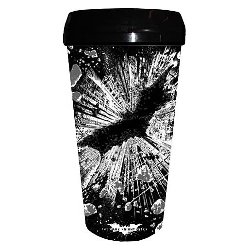 Batman Dark Knight Rises Poster Plastic Travel Mug