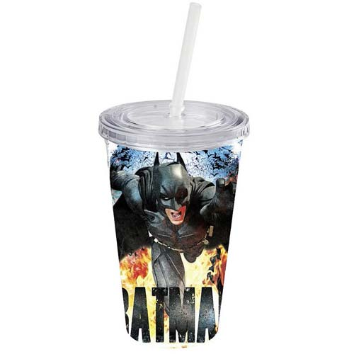 Batman Dark Knight Rises Heat Plastic Cold Cup