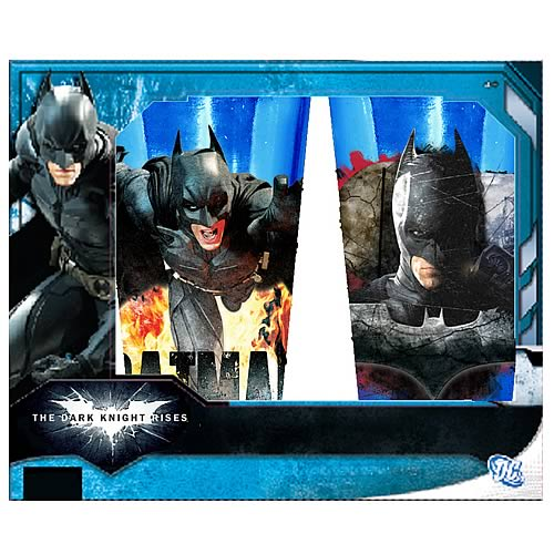 Batman Dark Knight Rises Colored Pub Glass 2-Pack