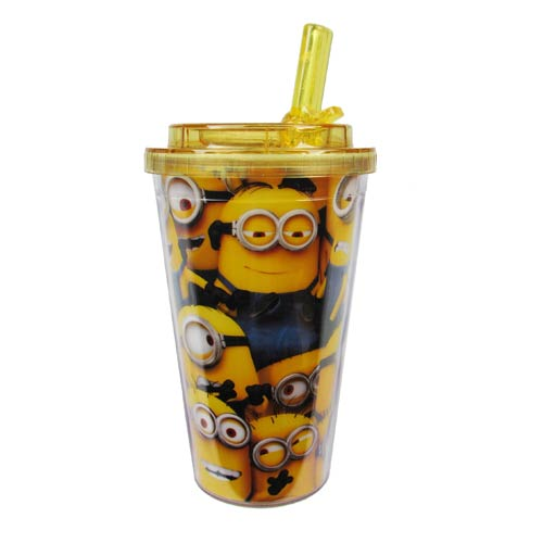 Despicable Me Cluttered Minions Flip-Straw Travel Cup