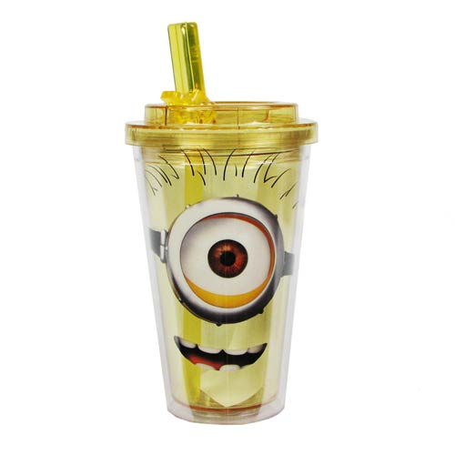 Despicable Me Happy One Eye Minion Flip-Straw Travel Cup