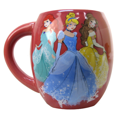 Disney 3 Princessess 18 oz. Ceramic Oval Mug
