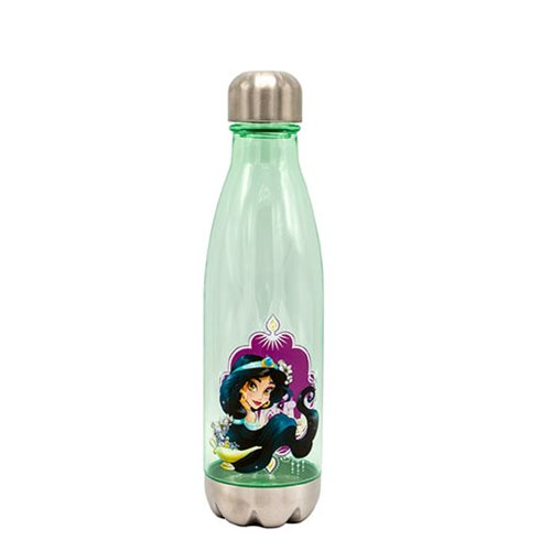 Disney Aladdin Princess Jasmine 20 oz. Plastic Curved Water Bottle with Screw Top