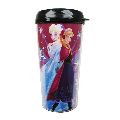 Frozen Elsa and Anna Frozen Princesses Plastic Travel Mug