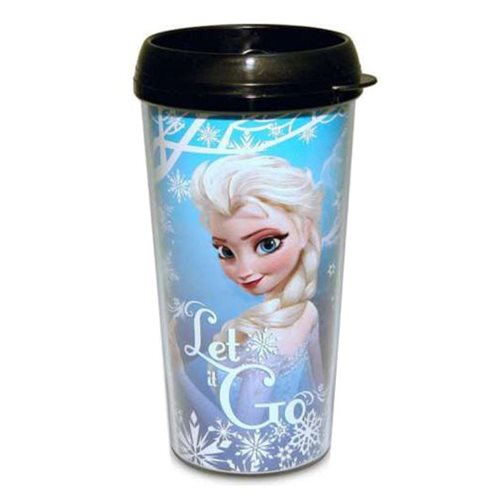 Frozen Elsa Let it Go Snowfall 16 oz. Plastic Travel Mug
