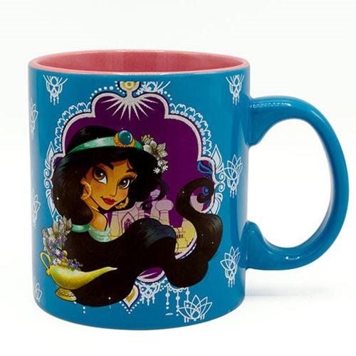 Disney Aladdin Princess Jasmine Glitter 20 oz. Jumbo Ceramic Mug