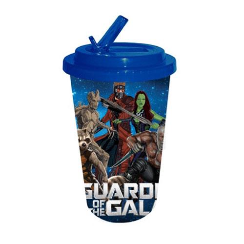 Guardians of the Galaxy Plastic 16 oz. Flip-Straw Travel Cup