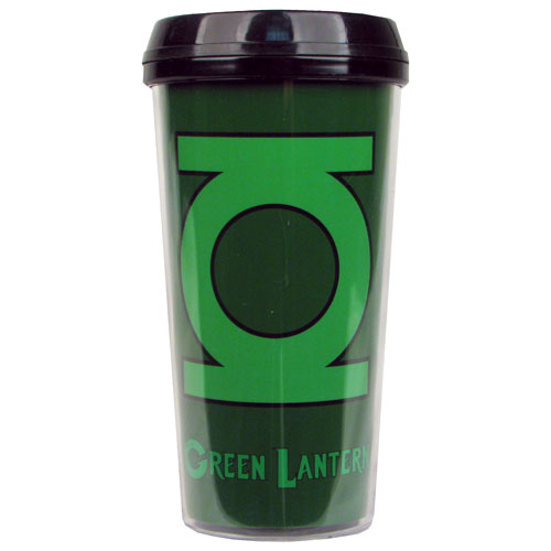 Green Lantern Logo 16 oz. Plastic Travel Mug
