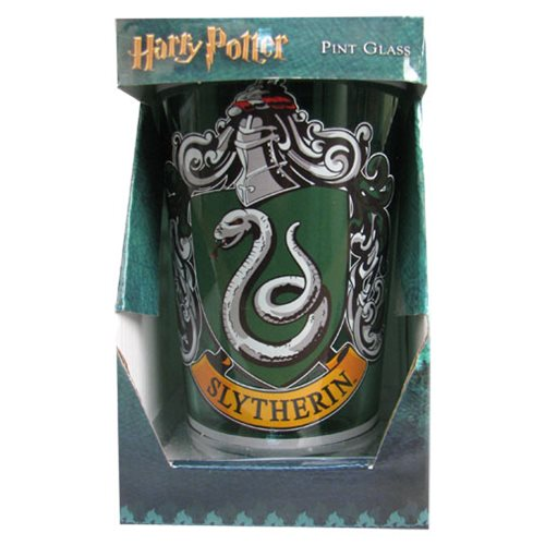 Harry Potter Slytherin House Crest Pint Glass