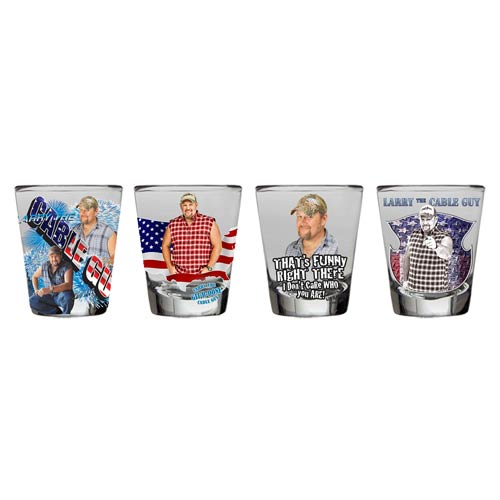 Larry the Cable Guy Shot Glass 4-Pack