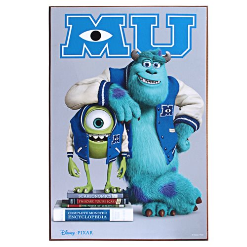 Monsters University Movie Poster Wood Wall Art
