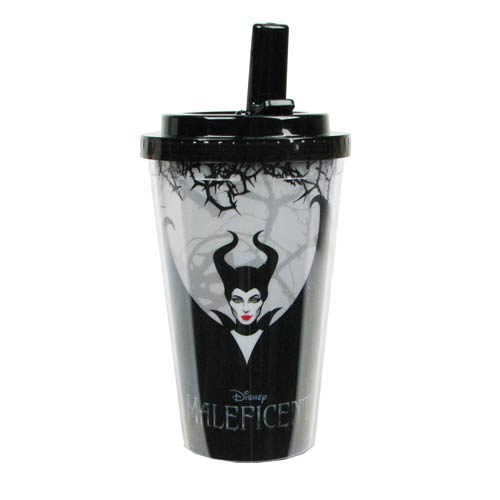 Maleficent Movie 16 oz. Plastic Flip-Straw Travel Cup