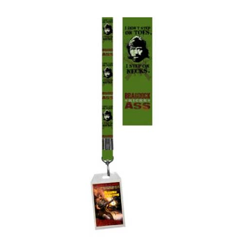 Chuck Norris Toes Lanyard Key Chain with ID Holder