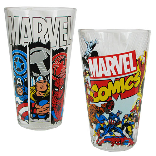 Marvel Comics 16 oz. Pint Glass 2-Pack