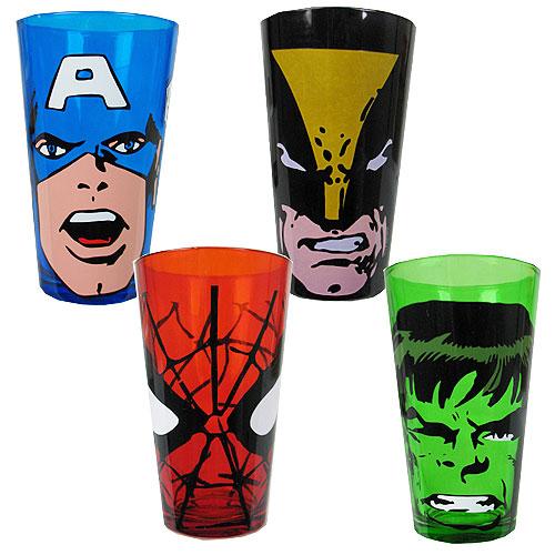 Marvel Heroes Glasses 4-Pack