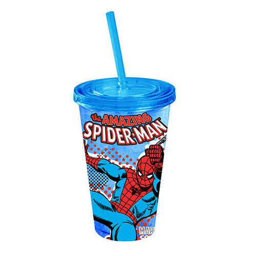 Spider-Man Swings Blue Plastic Travel Cup