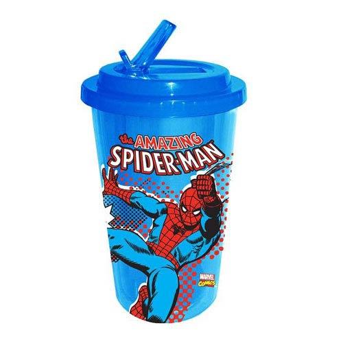 Spider-Man Web Slinger Plastic Flip Straw Cold Cup