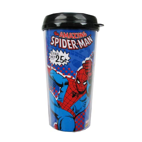 Spider-Man Action 16 oz. Plastic Travel Mug