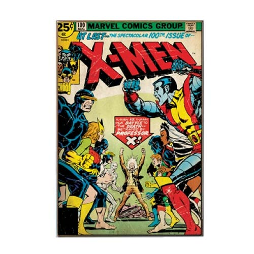 X-Men Vintage Comic Book Cover Wood Wall Artwork