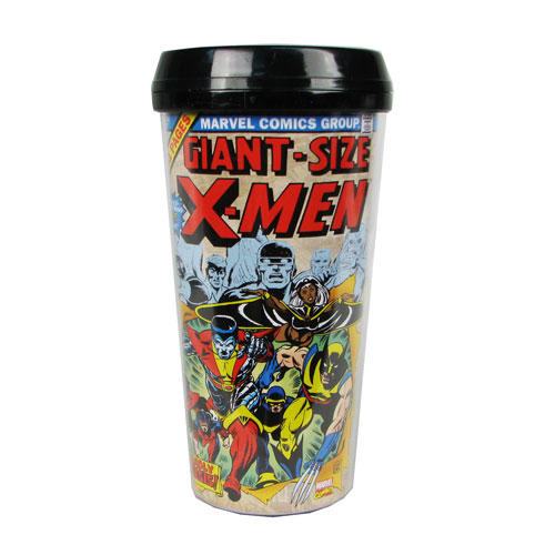 X-Men Classic Comic Book 16 oz. Plastic Travel Mug